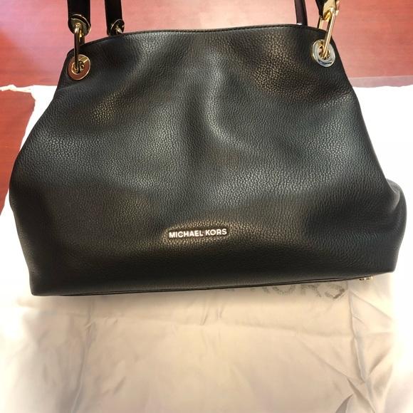 e4fc4c671383 MICHAEL Michael Kors Bags | Michael Kors Raven Large Leather ...